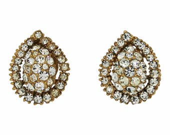 Christian Dior by Mitchel Maer 1950s Diamante Vintage Earrings