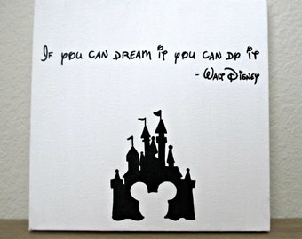 Dream It Handpainted Quote Canvas