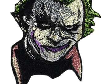 Joker face patch iron on joker face applique joker patch joker applique joker sew on joker iron on embroidered joker face sew on cloth patch