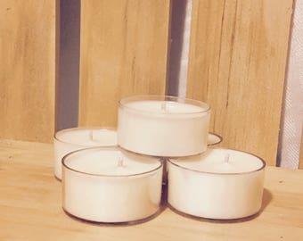 6 all natural soy- tea lights