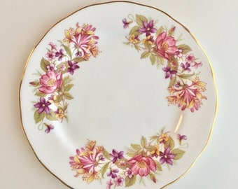 "Vintage ""Wayside"" 1960s bone china side plate"