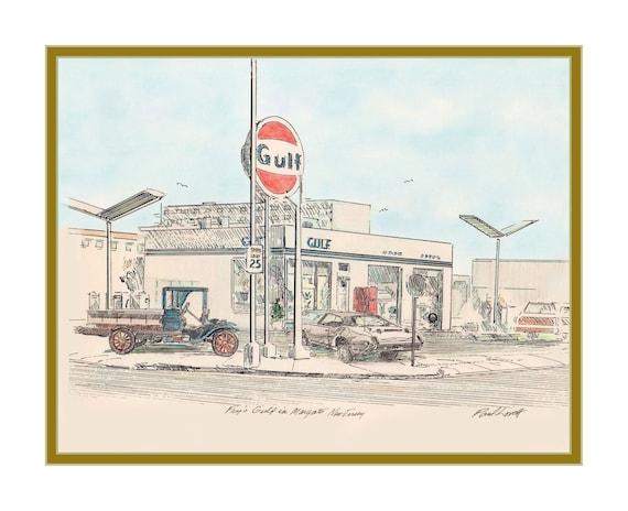 Frye's Gulf Station, Margate NJ 1970s