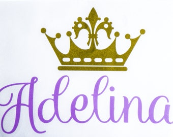 Princess Crown Decal - Princess Car Decal - Crown Decal - Personalized Crown Decal