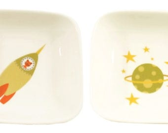 little rocket and planet dishes