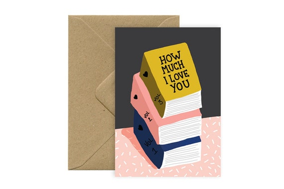 Carte A6 - Love books - Carte d'amour