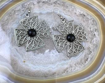 Cross Earrings - Goth