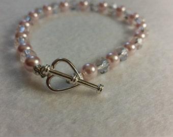 """Swarovski Crystal and pearls 8.25"""" anklet\bracelet"""