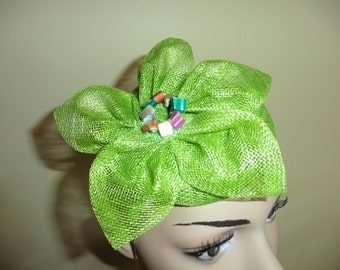 Lime Green Pillbox Hat ,Occasion Hat .Ascot Hat. Wedding Hat. Green Hat.Fascinator.Small Hat.By Harlequin Fascinators