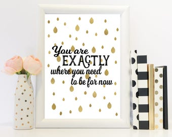 Motivational print, motivational art, motivational quote, modern print, modern art, black and gold print, black and gold art