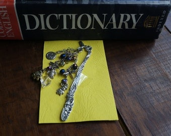 Funky bookmark with multi beads and charms