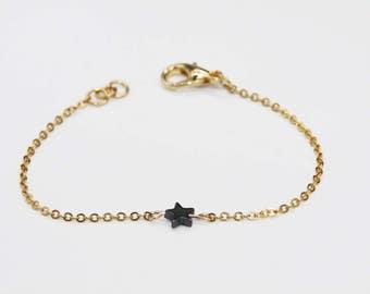 Star bracelet / bracelet of precious stones mini / star bracelet