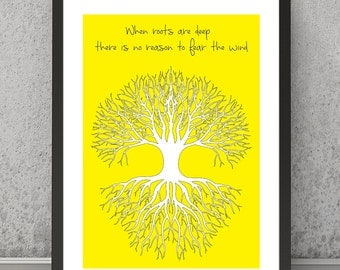 Family print, Family poster, Tree print, Tree poster, Tree quote, Inspirational print, Family quote, roots print, roots poster