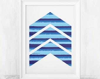 Chevron Decor, Chevron Wall Art, Chevron Digital, Printable Art, Digital Print, Download, Printable Chevron, Chevron Print, Chevron Art, PDF