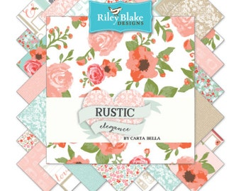 "New!  Riley Blake Rustic Fabric Collection - 42 5"" square stackers"