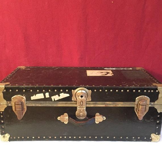 Vintage Steamer Trunk 1960's Vintage Luggage Original