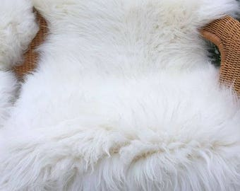Extra Large Genuine Sheepskin Rug with extra thick wool