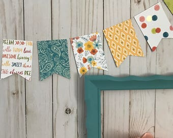 Colorful Banner, Paper Banner, Flower Banner, Bright Banner, Green Banner, Blue Banner, Yellow Banner, Polka Dot Banner, Photo Prop, Banner