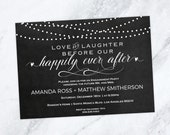 Engagement Party Invitation  Love and Laughter before our happily ever after  Editable Text  Downloadable Wedding WDH0209