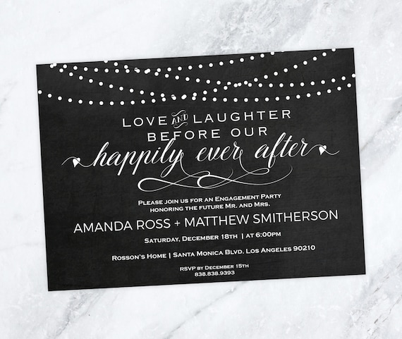 Engagement Party Invitation - Love and Laughter before our happily ever after - Editable Text - Downloadable Wedding #WDH0209