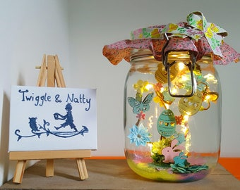 Easter Fun Light Jar