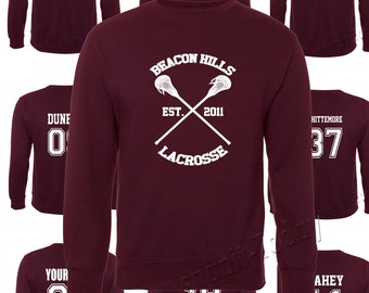 Beacon Hills Lacrosse Jumer - Teen Wolf Stilinski Lahey McCall Sleeve  Jumper Top
