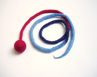 1 string ball for cats, rattle, length 142 cm, the original, cats, Rattle, felt rattle, Katzenangel, cat toys, Toys for Cats