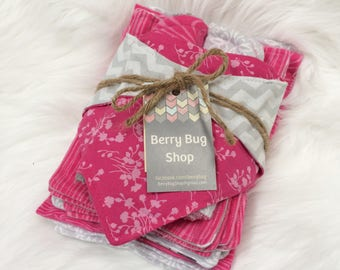Baby Girl Gift Set, Baby Girl Gift, Baby Gift Set, Newborn Layette, Baby Girl Layette, Baby Shower Gift, Gift Baby, Burp Cloths, Drool Bib