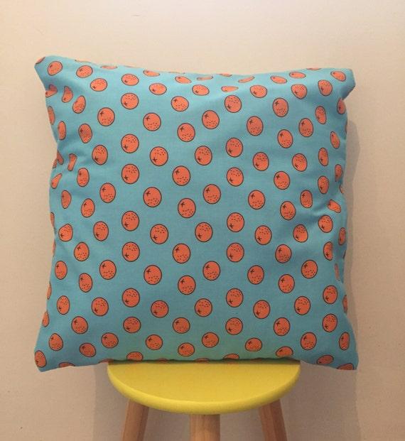 Blue and orange, 'Oranges' cushion cover
