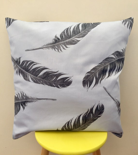 Indoor / outdoor grey feather cushion cover 45cm x 45cm