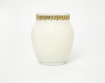 Glam Gold Curved Jar Soy Candle-12oz