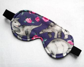 Sleeping Mask in Dinosaurs and ROses