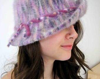 Gorgeous 1970's Mohair Kangol Bucket hat. Lilac/Purple. Excellent vintage condition.