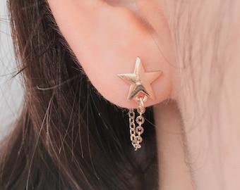 Star Earrings / Constellation Earrings / Silver Earrings / Whimsical Earrings / Gold Earrings / Cute Earring, post back earrings ,stud earri