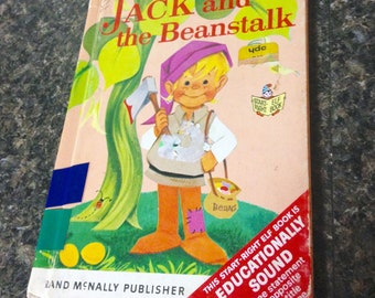 Vintage Rand McNally book/Jack and the Bean Stalk/1969/Childrens classic book/childs book/craft supply