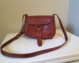 Vintage 70's Leather cross body bag