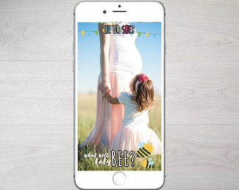 Gender Reveal Snapchat Filter - Bee