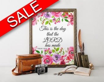 Wall Art This Is The Day The Lord Has Made Digital Print This Is The Day The Lord Has Made Poster Art This Is The Day The Lord Has Made Wall