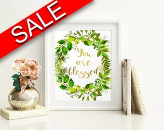 Wall Art You Are Blessed Digital Print You Are Blessed Poster Art You Are Blessed Wall Art Print You Are Blessed Nursery Art You Are Blessed
