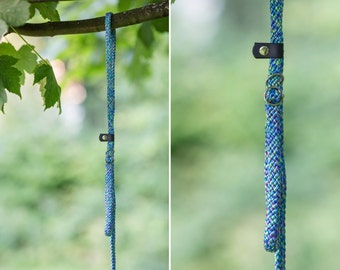 Slip Lead - Rope leash - Tropical Blue