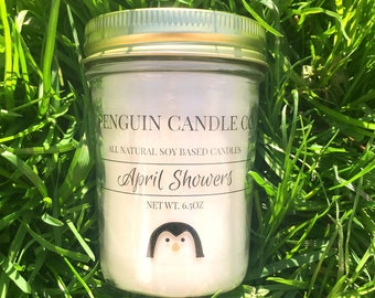 50% OFF SALE April Showers 8oz. Soy Candle