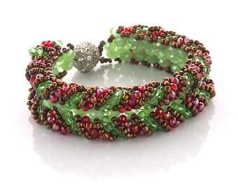 Women bracelet - Wedding bracelet - Exotic bracelet - Crystal bracelet - Crystal bead bracelet - Exotic bracelet - Gift for women