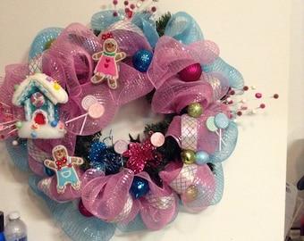 Candy Land wreath