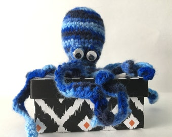 Crochet Octopus - soft bug-eyed amigurumi octopus