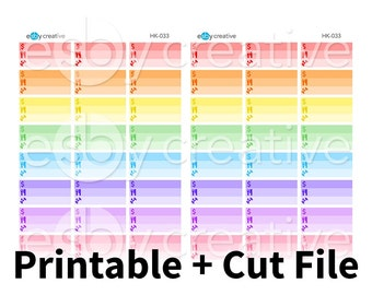 Mealplan, Workout, Bills/Spending Little Things Box Planner Stickers - for Erin Condren Horizontal Printable INSTANT DOWNLOAD - HK-033