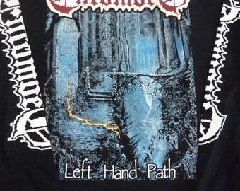 Classic Entombed - Left Hand Path   longsleeve shirt - - .  Death,Massacre,Carcass,Terrorizer,Morgoth