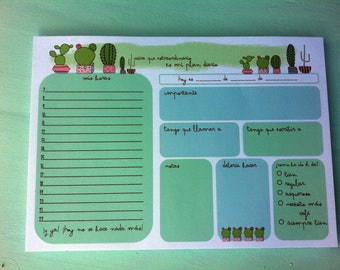 Daily Planner 'Cactus' (Din A5)