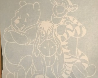 Winnie Eeor and Tigger Wall Art Decal Print