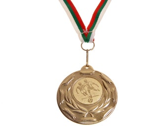 Medal On Ribbon Soccer Commemorative Bulgaria Team Sports Father's Day Gift