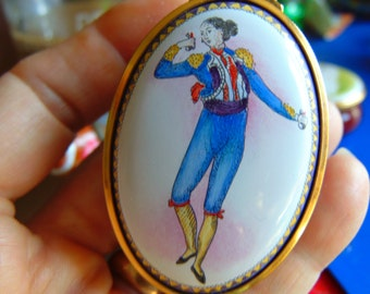 The Allied  Dumbar Collection from Staffordshire Enamels  #39 Trinket Box