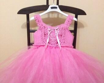 pale pink handmade airy dress
